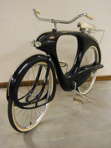 Gorgeous space-age fiberglass bike
