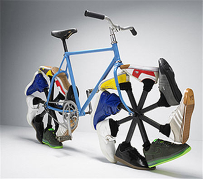 Bicycle wears shoes to get you to work