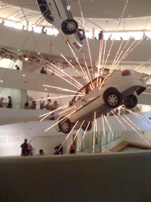 LED-Exploding Cars and Gun Powder Art