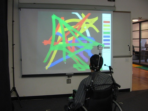 ITP show: Using a wheelchair (and Wiimote) to create art…
