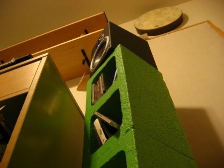 Cinder block speaker stands