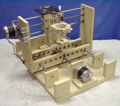 Wooden PCB drill has easy to replace parts