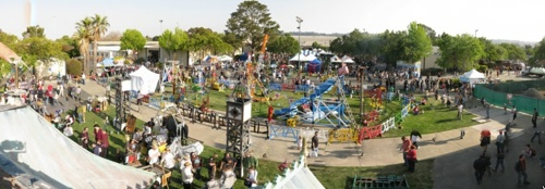 Maker Faire from the top of the Neverwas Haul