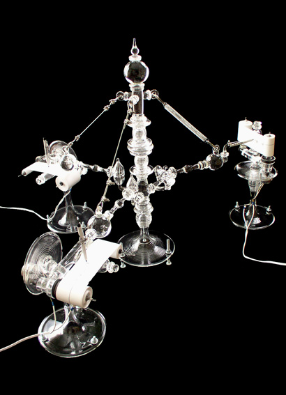 Seismic glass art