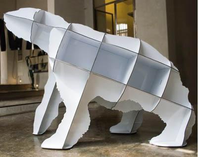 Polar bear shelves make you run for cover
