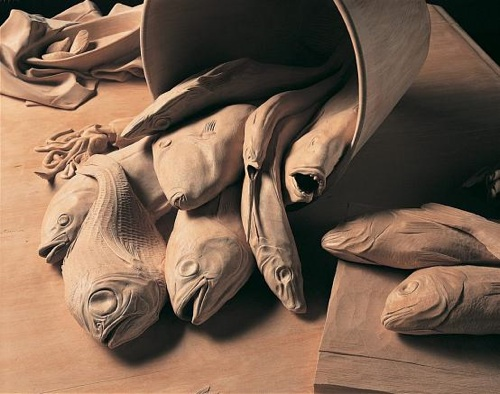 Ricky Swallow's wood sculptures