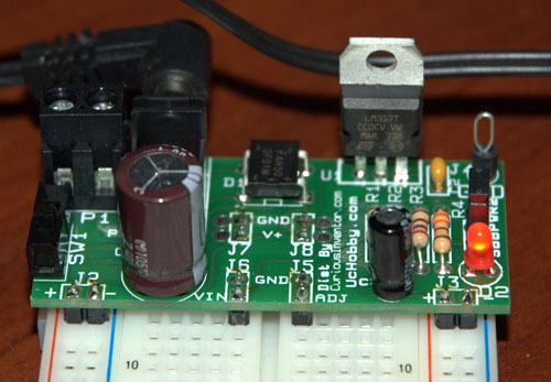 Breadboard power supply hits both rails