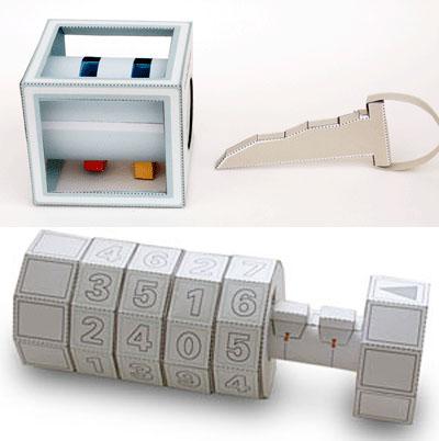 Papercraft lock pack