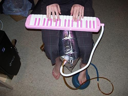 Blow keyboard bagpipe mod