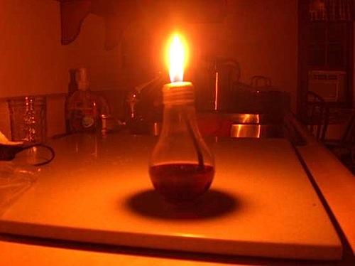 HOW TO – Light bulb oil lamp