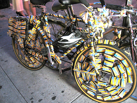 Metrocard bicycle will not fit in the turnstyles