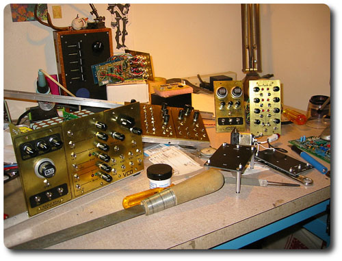 Vernian synth-modular in etched brass