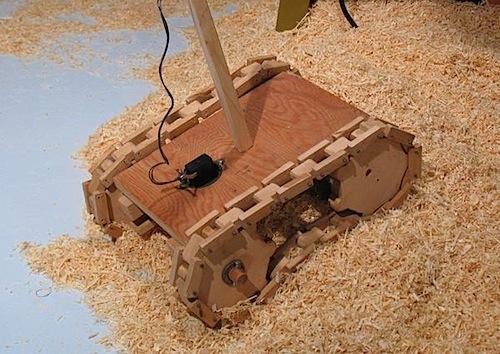 Wooden RC tank