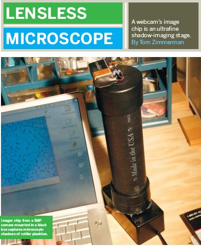 Weekend Project: Lensless Microscope (PDF)