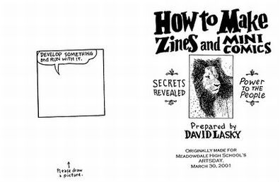 Interview with David Lasky, Comic/Zine Maker