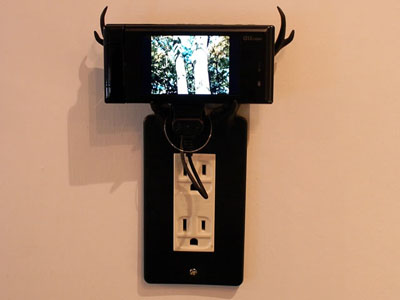 Cell phone art meets furniture