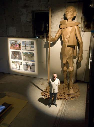 HOW TO – Make a 17-foot cardboard Gandhi
