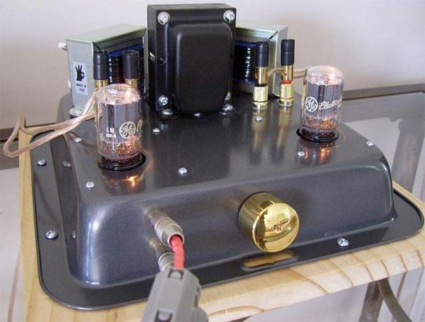 Baking pan tube amp