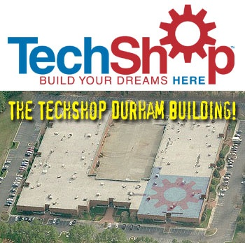 Durham NC Area Makers invited to the TechShop Durham pre-opening celebration party on July 12, 2008