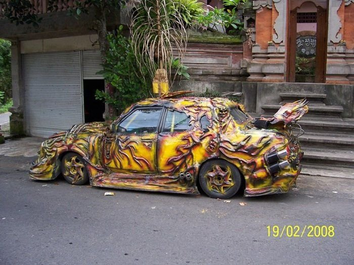 Car mod looks like it was melted by the sun