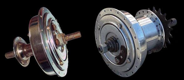 Dynohub multi-pole alternator