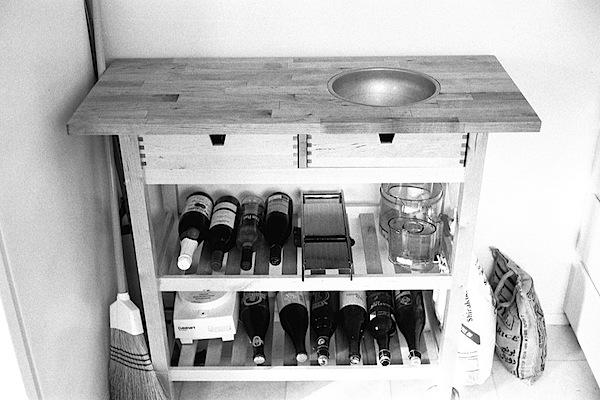 Ikea kitchen hack: in-board bowl