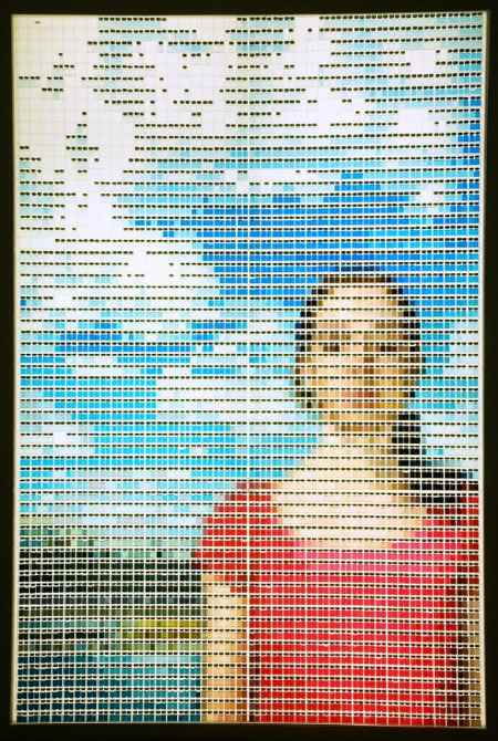 Art image from 4000+ glass vials