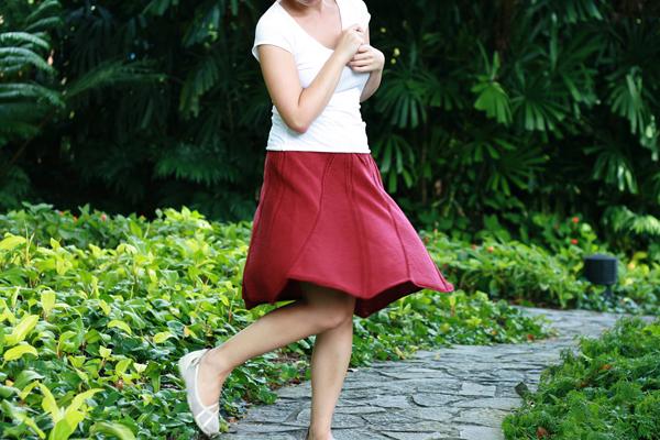 Mintyfresh's Knitted Swirly Skirt