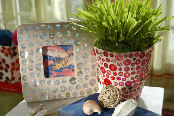 Revamped Picture Frame & Flowerpot