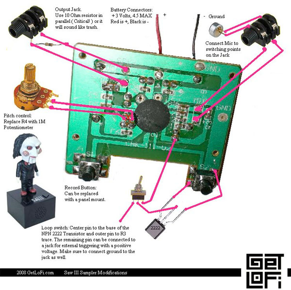 HOW TO – Circuit-bend a cheap voice recorder