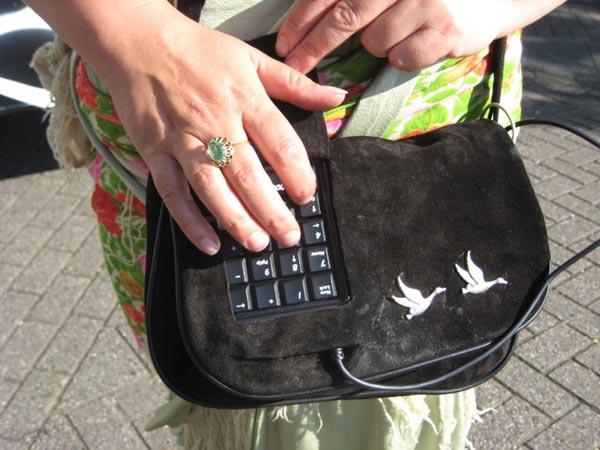 Handbag project integrates live video and sound broadcasting