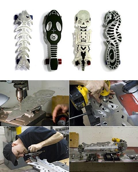 Custom aluminum skateboards