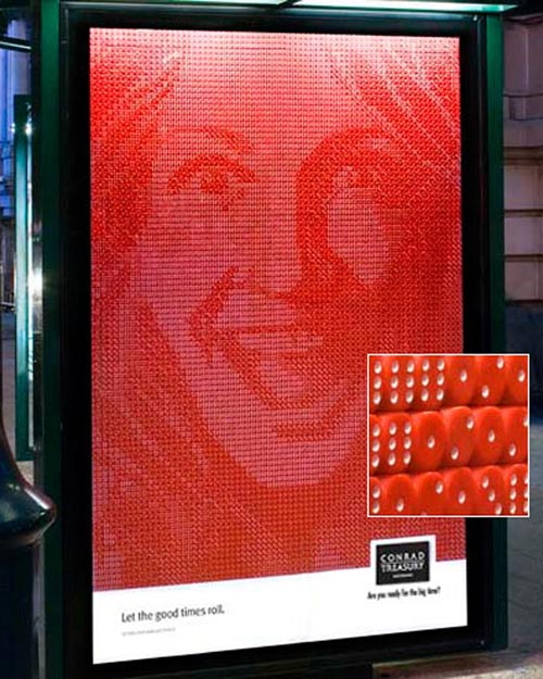 Billboard made of dice will increase your chances of seeing it