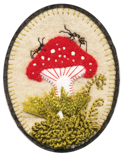 Elsa Mora's Embroidered Brooches