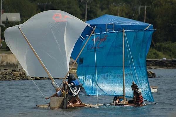 Homemade boat race in Providence, RI
