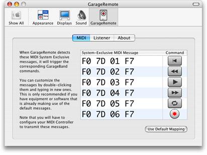 GarageRemote lets you get MIDI easily into GarageBand