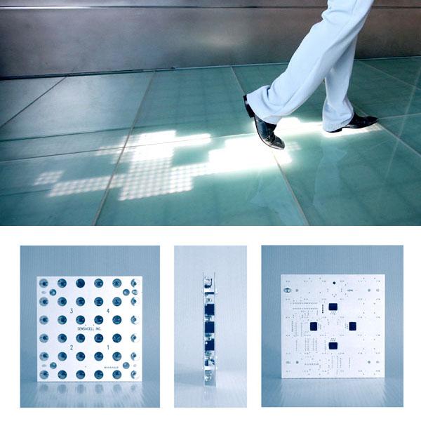 LED footprint flooring