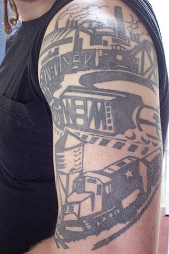 Railroad tattoos