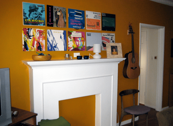 How To Build an Album Art Wall on the Cheap
