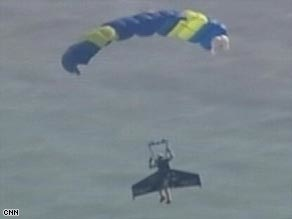 'Human jet' crosses the English Channel
