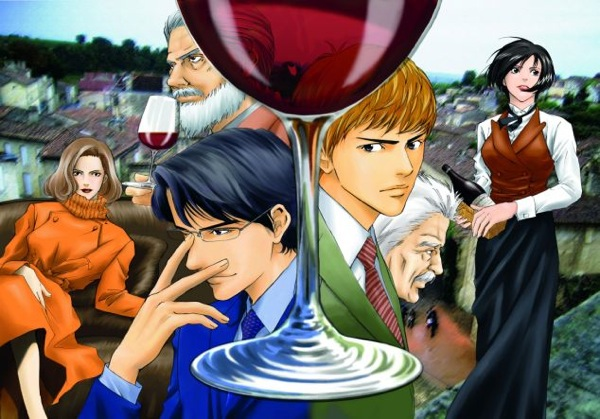 The art of wine – manga style