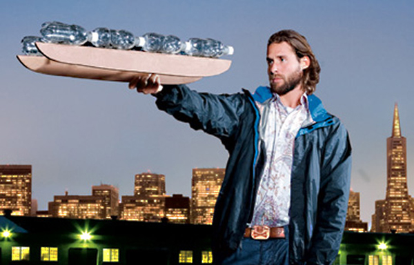 Sail across the Pacific ocean on discarded water bottles