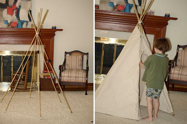 DIY tipi tent!