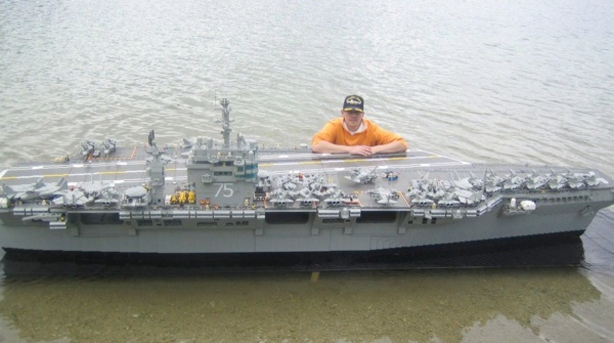 lego aircraft carrier make