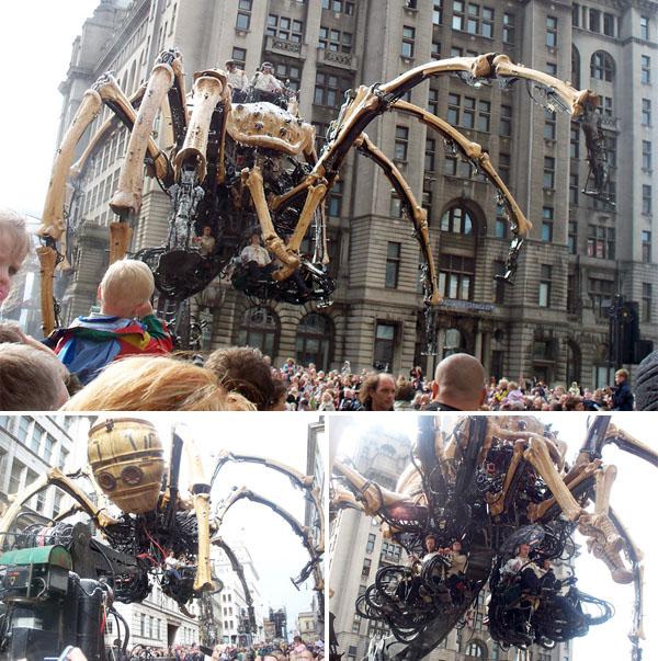 Photos of La Machine's giant spider!
