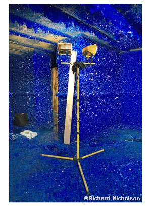 Seizure by Roger Hiorns – 90,000 litres of copper sulphate make millions of blue crystals
