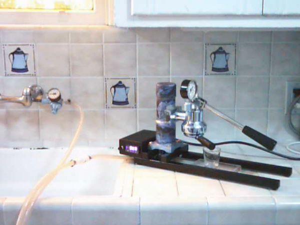 Scratch-built espresso machine