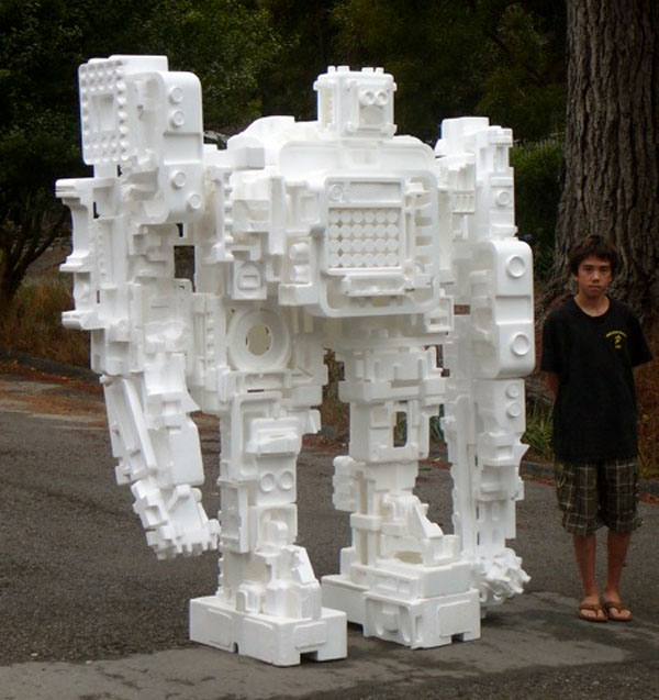 Styrobot built by father & son