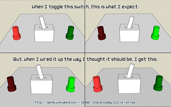 spdt switch wiring explained make rh makezine com wiring diagram spdt switch wiring a spdt toggle switch