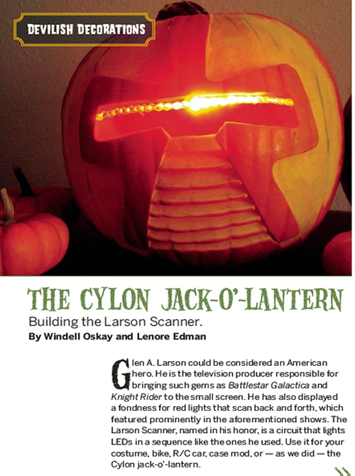 Weekend Project: Cylon Jack O' Lantern (PDF)
